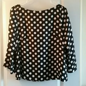 J. Crew silk polka-dot text blouse 8